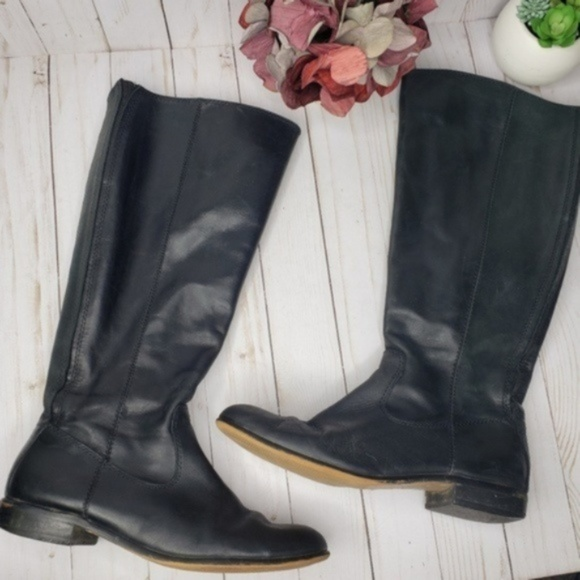 Kenneth Cole Shoes - Kenneth Cole Black Leather Knee High Boots